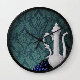 Decanter and Grapes Wall Clock