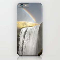 Rainbow over Waterfall - Iceland Landscape iPhone 6s Slim Case