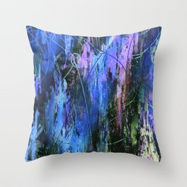 Sketchy Splashed Paint 3 Throw Pillow