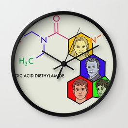 Lysergic Acid Diethylamide Wall Clock