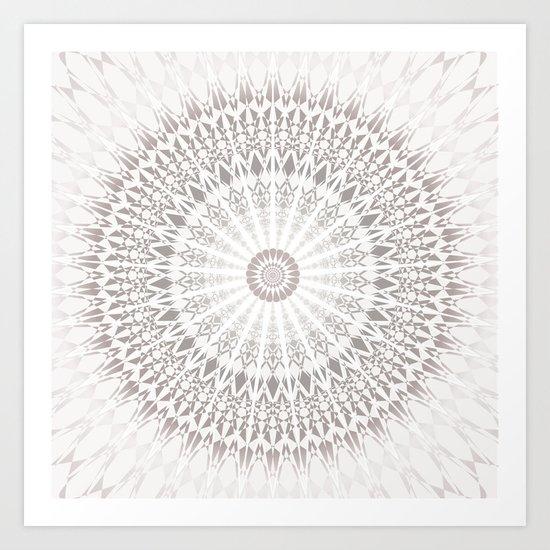 Taupe Mandala Art Print