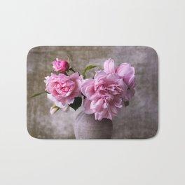 Floral Garden Rose Bouquet Bath Mat