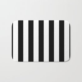 Black & White Stripe Bath Mat