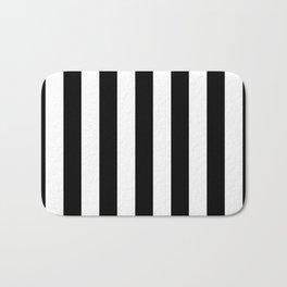 Black & White Stripe Bath Mat