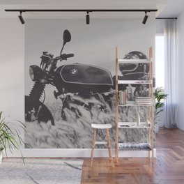 Scrambler photography, motorcycle lovers, motorbike, café racer, cafe racer, man cave gift Wall Mural