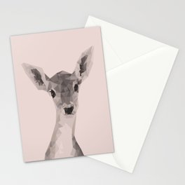Little deer in pink Stationery Cards