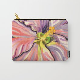 White Hibiscus in Belize Carry-All Pouch