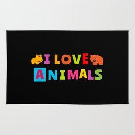 I Love Animals Rug
