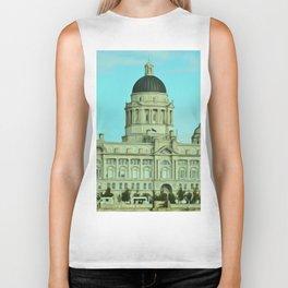 Port of Liverpool Building (Digital Art) Biker Tank