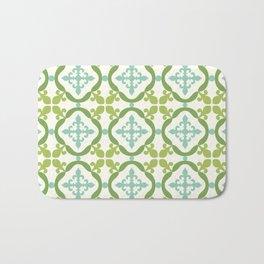 Moroccan tile - green, teal, blue Bath Mat