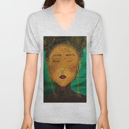 Wounded Nature Queen Unisex V-Neck