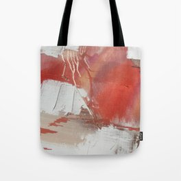 California Sun: a minimal, abstract piece in reds and gold by Alyssa Hamilton Art Tote Bag