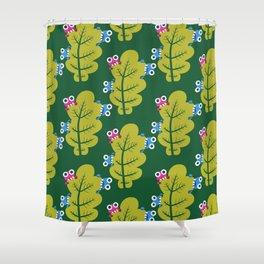 Bugs Eat Green Leaf Shower Curtain