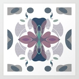 Mauve Decorative Ornament Design Art Print