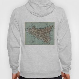 Vintage Map of Sicily Italy (1911) Hoody