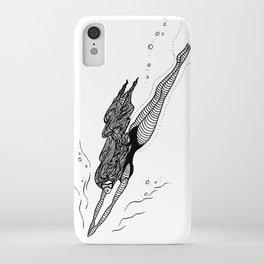 Free Dive Mermaid iPhone Case