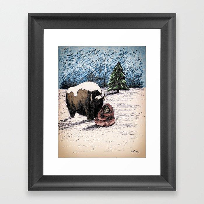 "Meet Bison - From ""Helpers"" Framed Art Print"