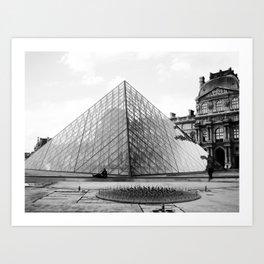 Pyramide de Louvre Art Print