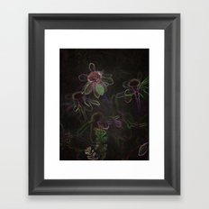 Flowers and Coffee Framed Art Print