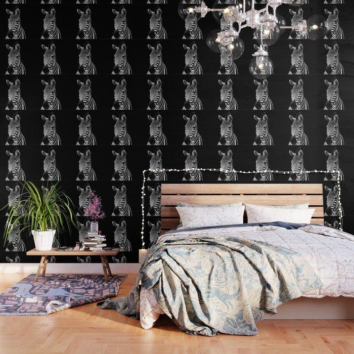 Zebra Black Wallpaper