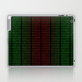Binary Green and Red With Spaces Laptop & iPad Skin