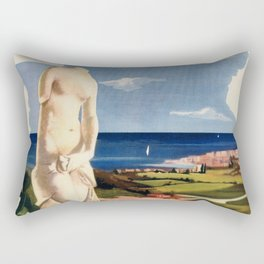 Siracusa Syracuse Italy vintage Italian travel Rectangular Pillow