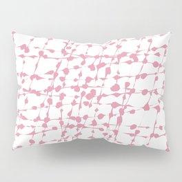 Spotted net pattern Pink Pillow Sham