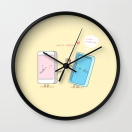 They were made for each other. Wall Clock