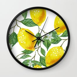 TROPICAL LEMON TREE Wall Clock