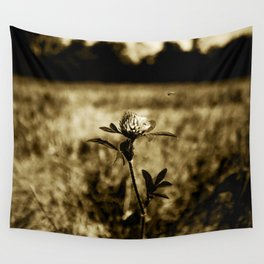 Flowers - Wildflower Monotone Wall Tapestry
