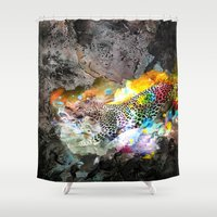 leopard Shower Curtains featuring LEOPARD by sametsevincer