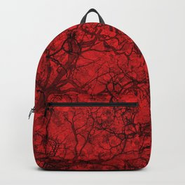 Red Hunting Camo Pattern Backpack