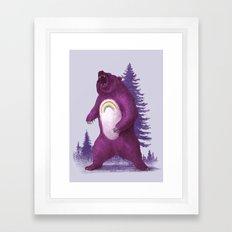 Scare Bear Framed Art Print