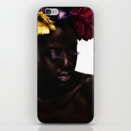 Floral Afro iPhone Skin