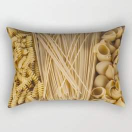 Different kind of pasta Rectangular Pillow