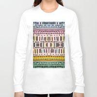 navajo Long Sleeve T-shirts featuring NAVAJO MOTIF  by Vasare Nar