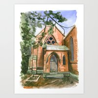ben giles Art Prints featuring St. Giles by Anthony Billings