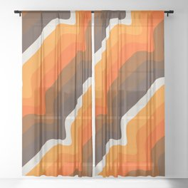 Golden Wave Sheer Curtain