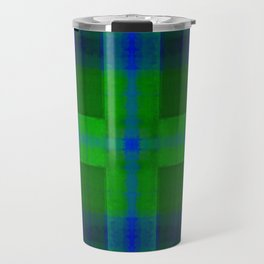 Cobalt Blue Dye Batik Cross Travel Mug