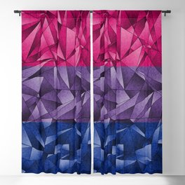 Abstract Bisexual Flag Blackout Curtain