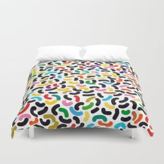 colored worms Duvet Cover