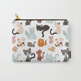Cats Cat Kitten Texture Pattern LIKE PROMOTE Carry-All Pouch