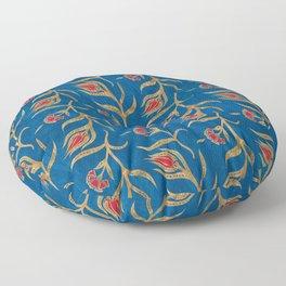 Turkish tulip pattern - Ottoman tile #18 Floor Pillow