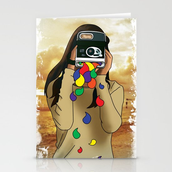 Polaroid Girl Stationery Cards