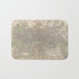 Vintage Map of London England (1843) Bath Mat