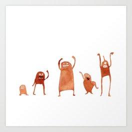 Monster Dance Party Art Print