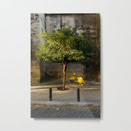 A Motorcycle and a Tree Metal Print