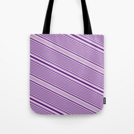 Purple Stripes Tote Bag