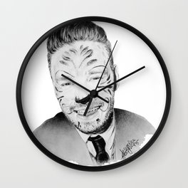Liam Payne with painted face Wall Clock