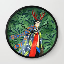 The troubled prince of the greenhouse Wall Clock